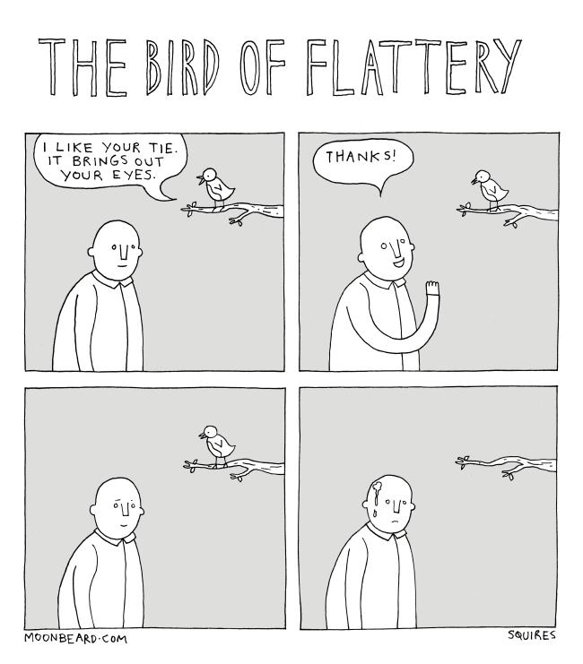 bird of flattery