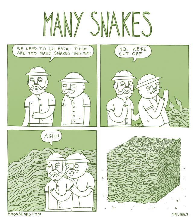 many snakes